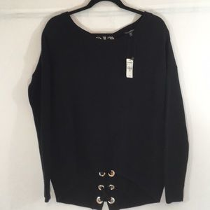 NWT Express Back Lace Up Sweater